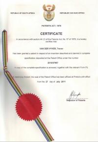 HP patent Certificate