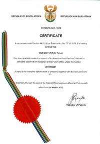 LP Patent Certificate